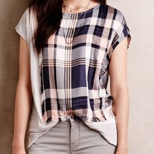 Anthropologie Plaid Tee